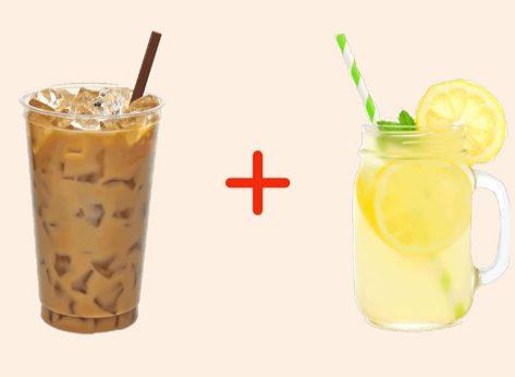 iced coffee with lemonade gross drink combo