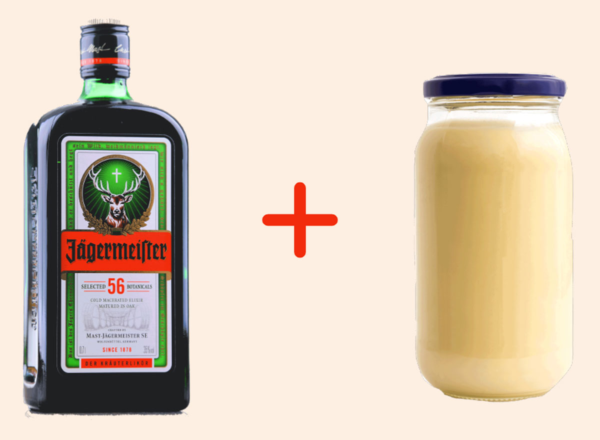 jager with mayo gross drink combo