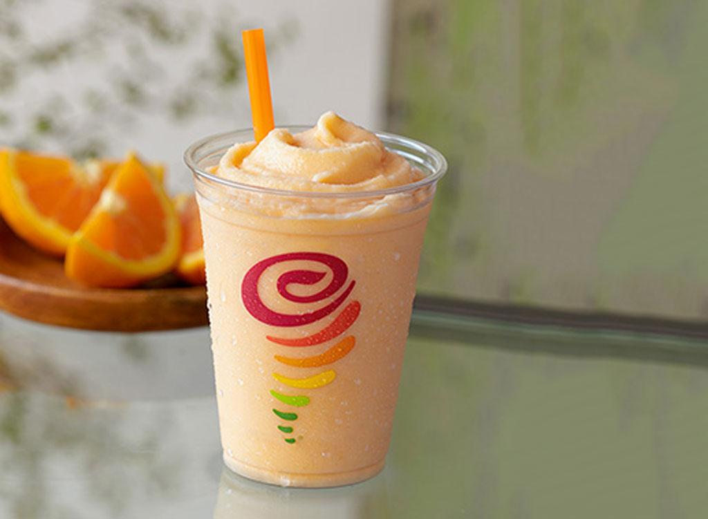 Jamba Juice orange dream smoothie - unhealthiest, worst smoothies