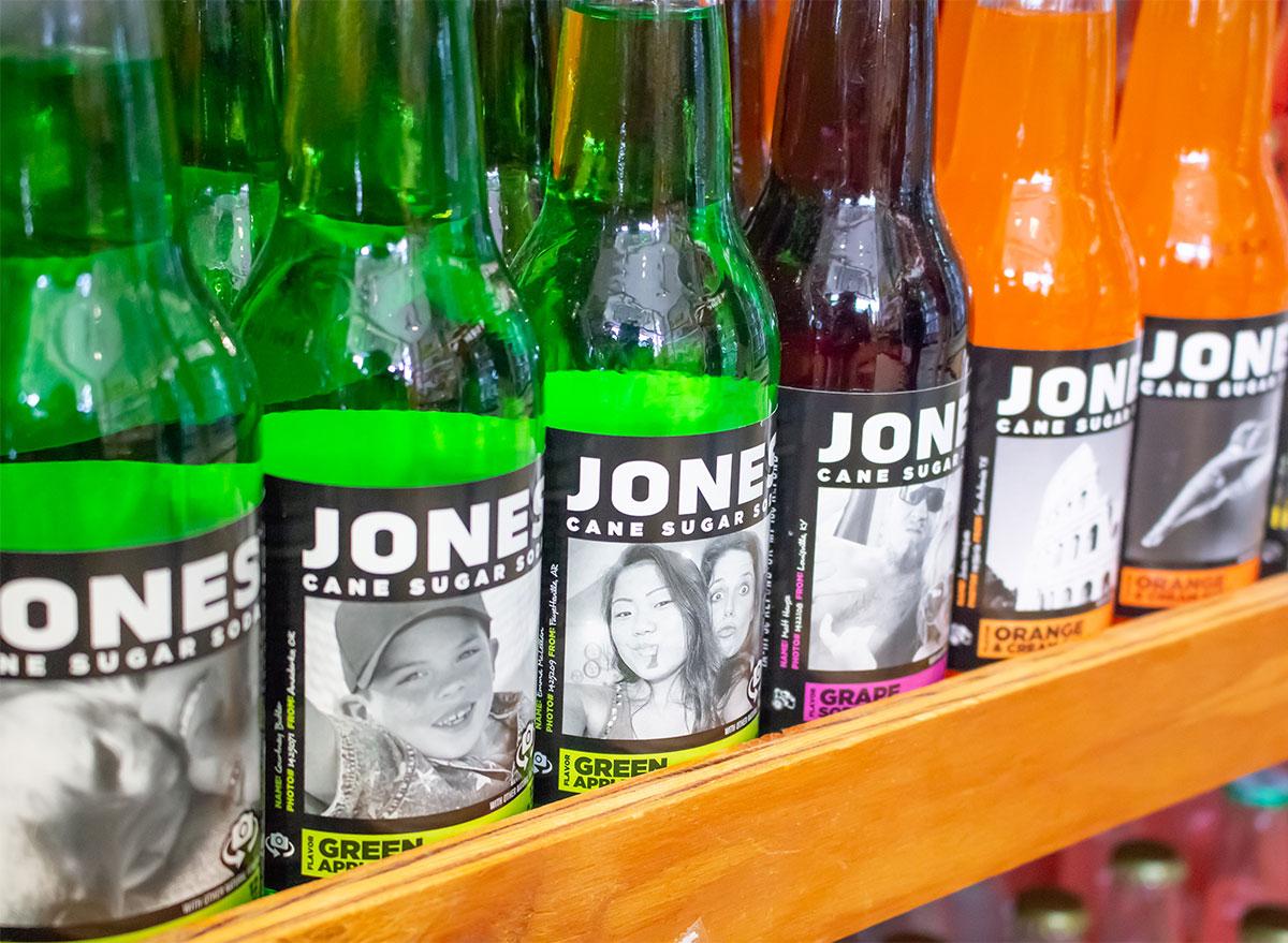 bottles of jones soda