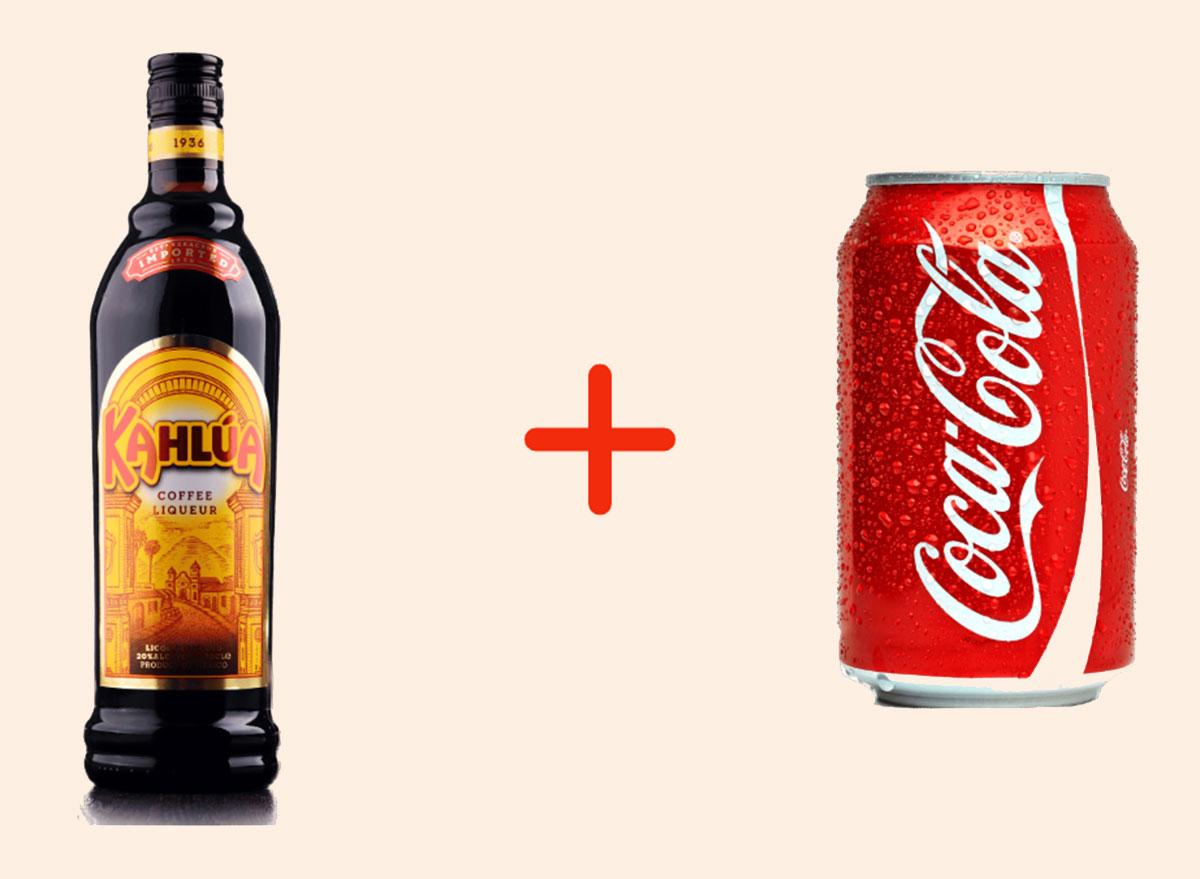 kahlua with coke gross drink combo