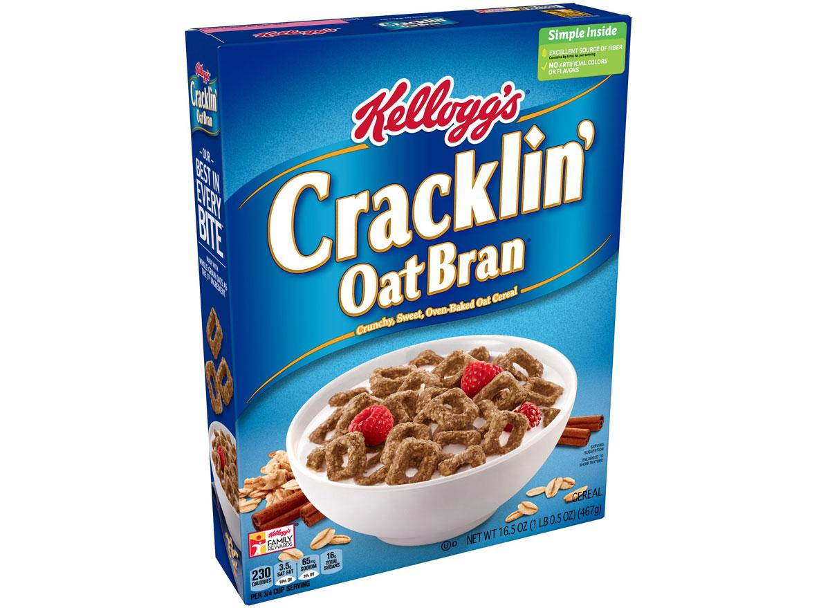 kelloggs cracklin oat bran cereal - unhealthiest worst cereals