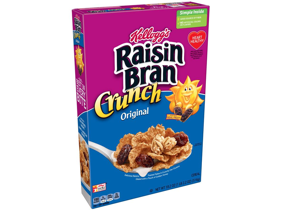Kelloggs raisin bran crunch - unhealthiest worst cereals