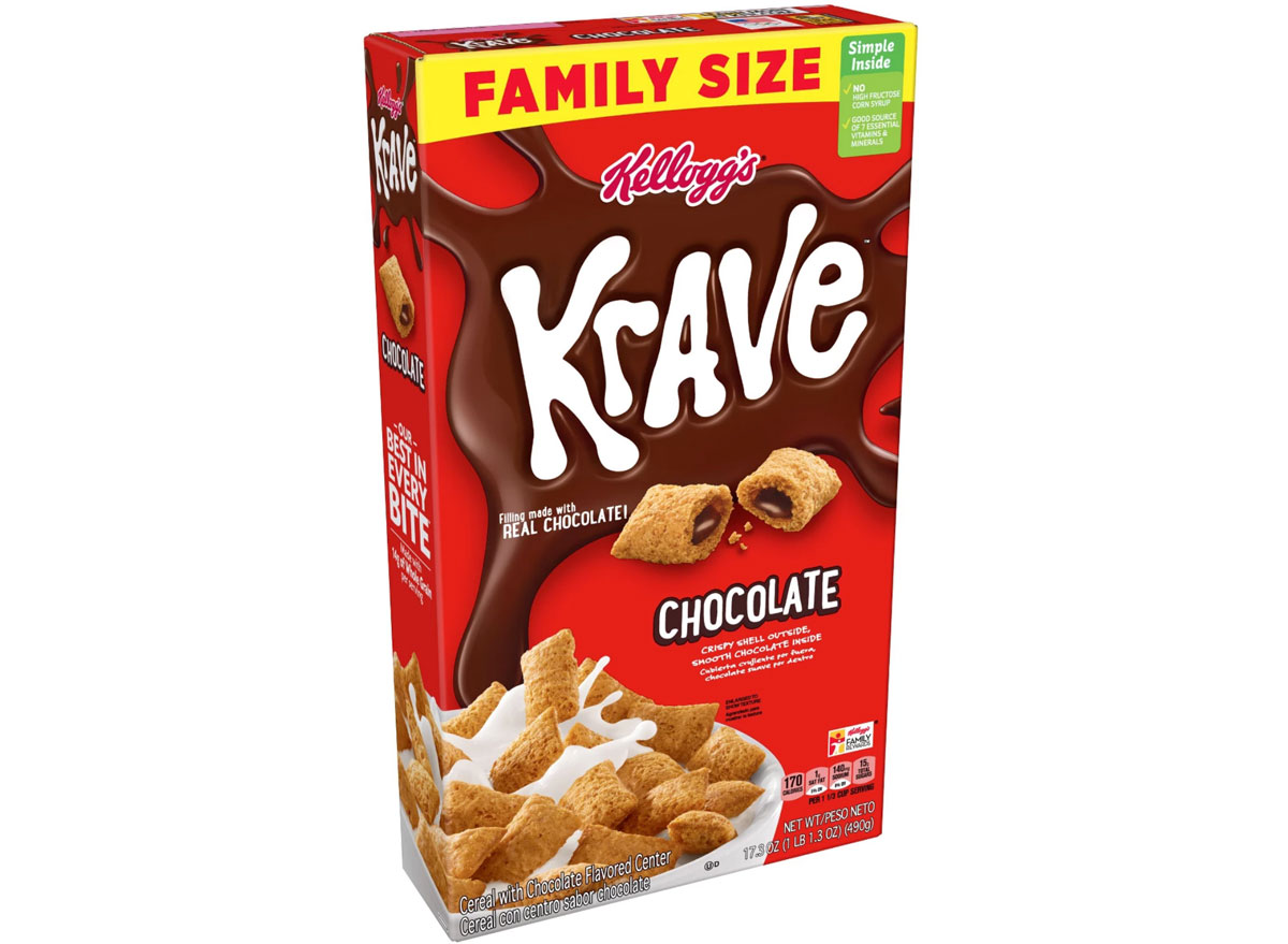 kelloggs krave chocolate cereal - unhealthiest worst cereals