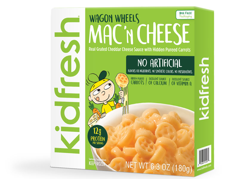 kidfresh wagon wheels mac and cheese