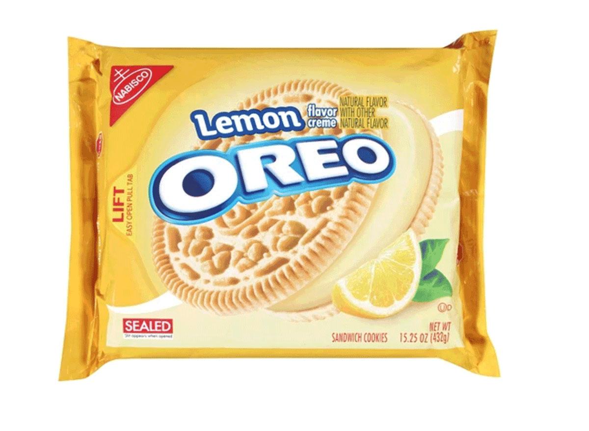 lemon flavored cream oreo pack