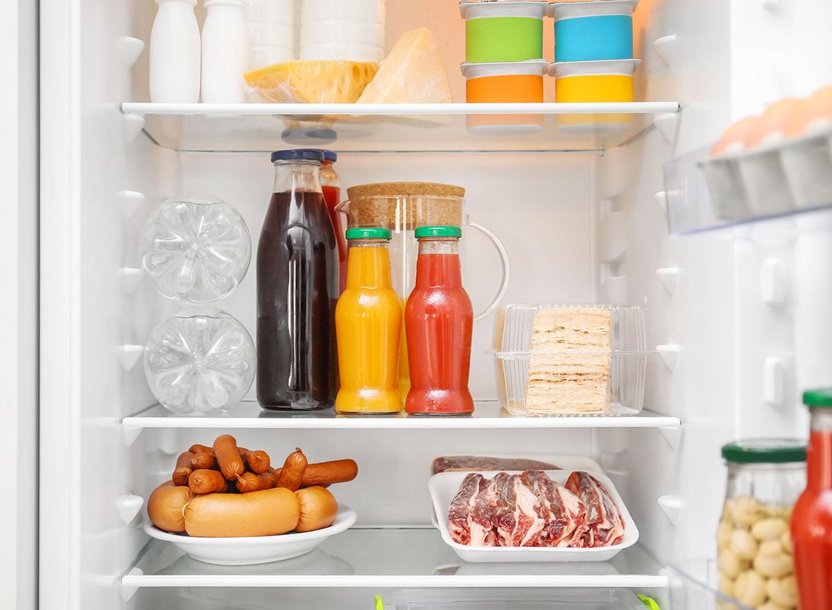 lower shelves fridge