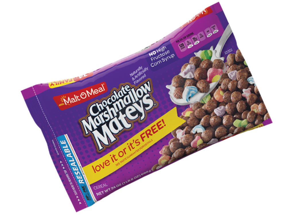 Malt o meal chocolate marshmallow mateys - unhealthiest worst cereals