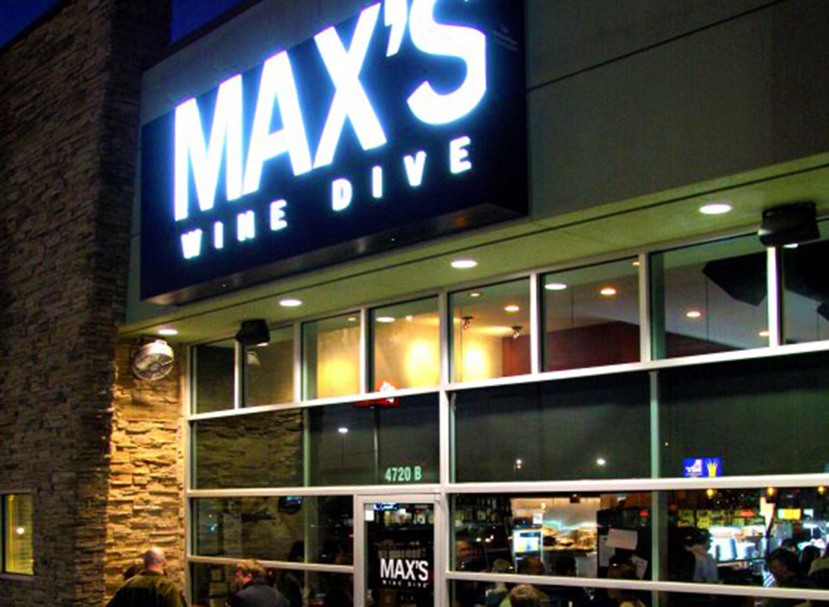 mans wine dive restaurant store front