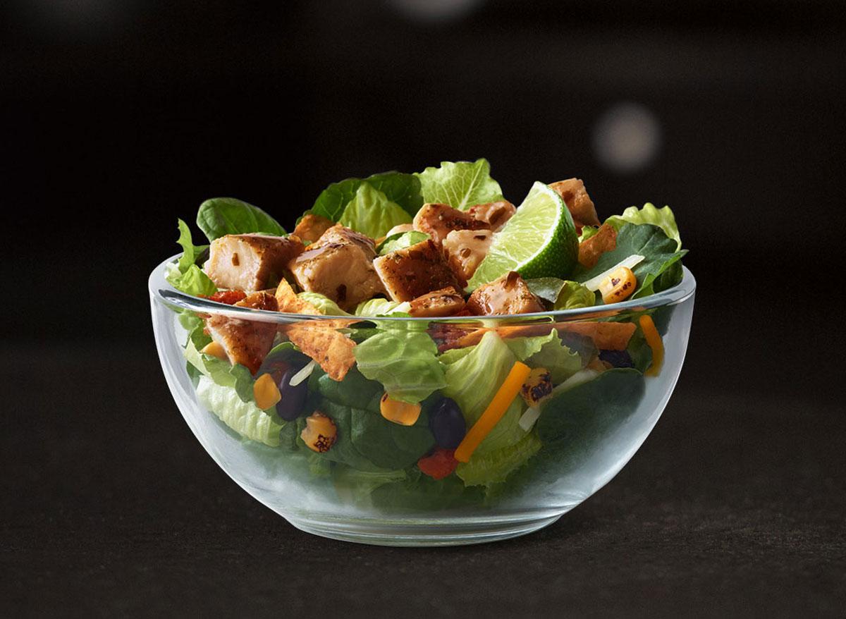 Mcdonalds premium southwest grilled chicken salad