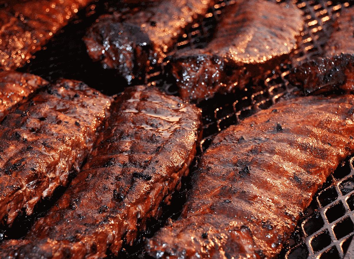 memphis dry rub ribs on big grill