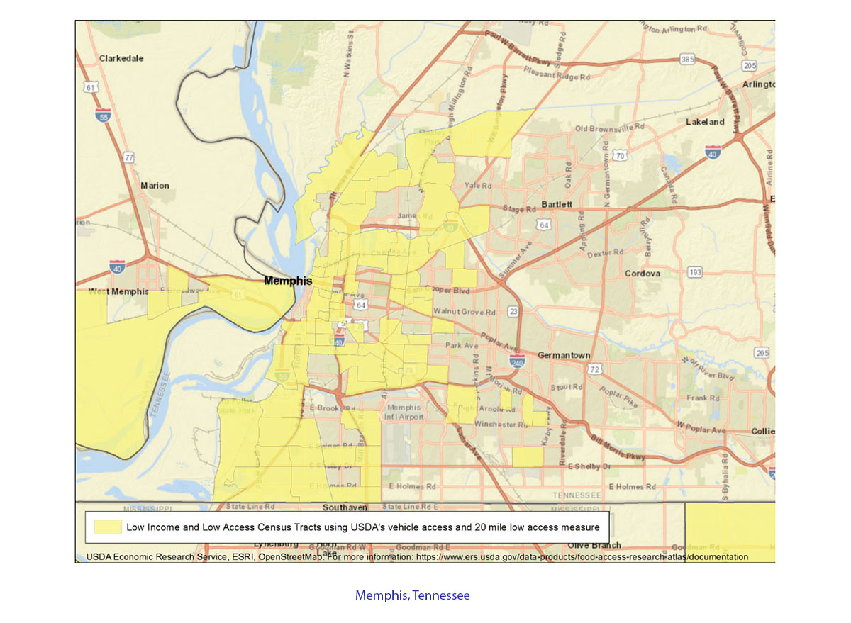 memphis tennessee low income map