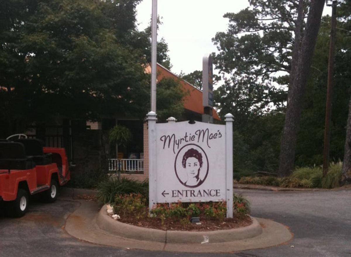 myrtie maes cafe restaurant sign