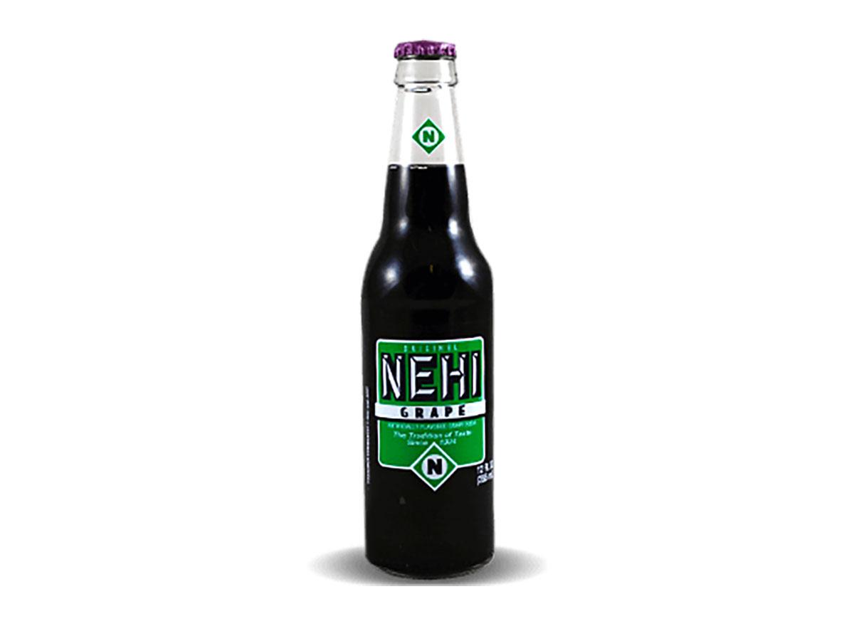bottle of nehi grape soda