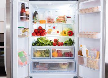 open fridge doors