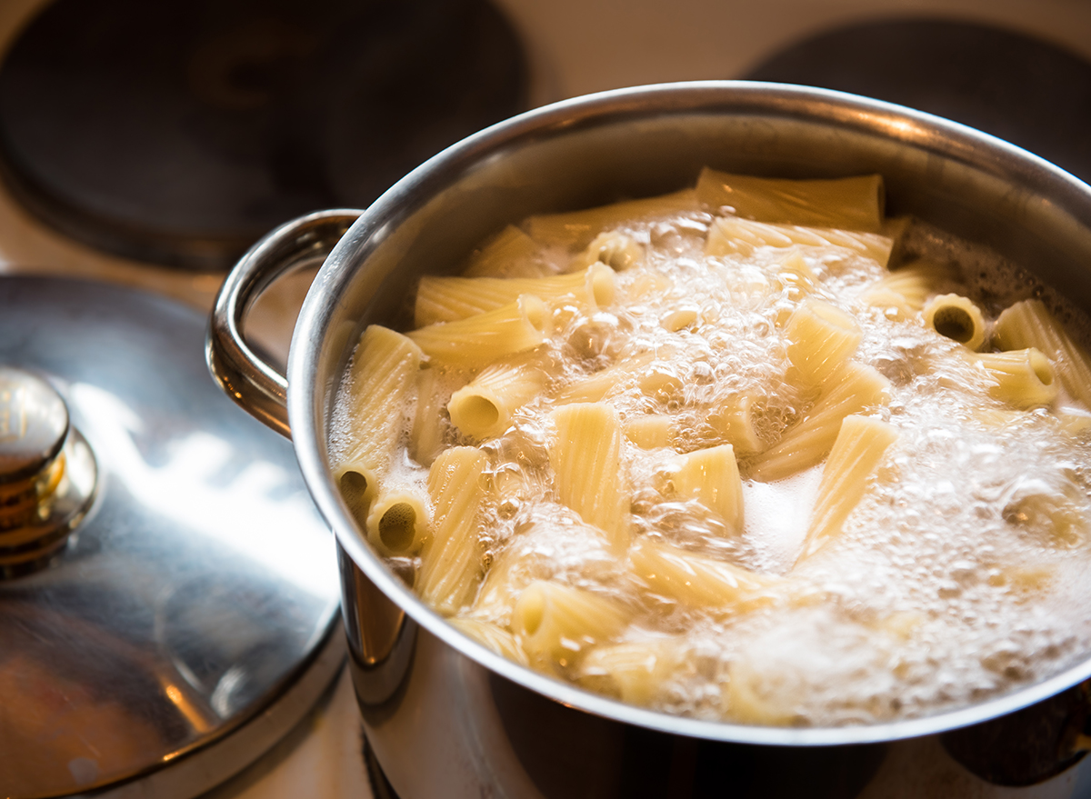 pasta boiling in pot
