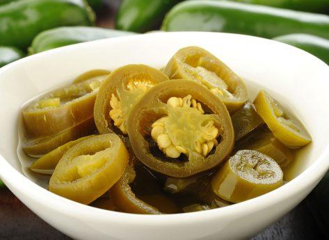 pickled jalapeños in bowl