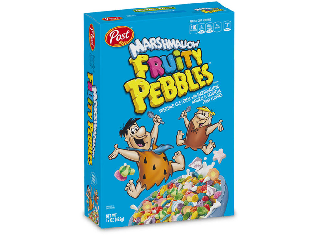 Post marshmallow fruity pebbles cereal - unhealthiest worst cereals