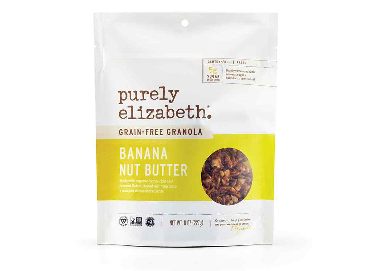 purely elizabeth grain free granola banana nut butter flavored gluten free granola bag