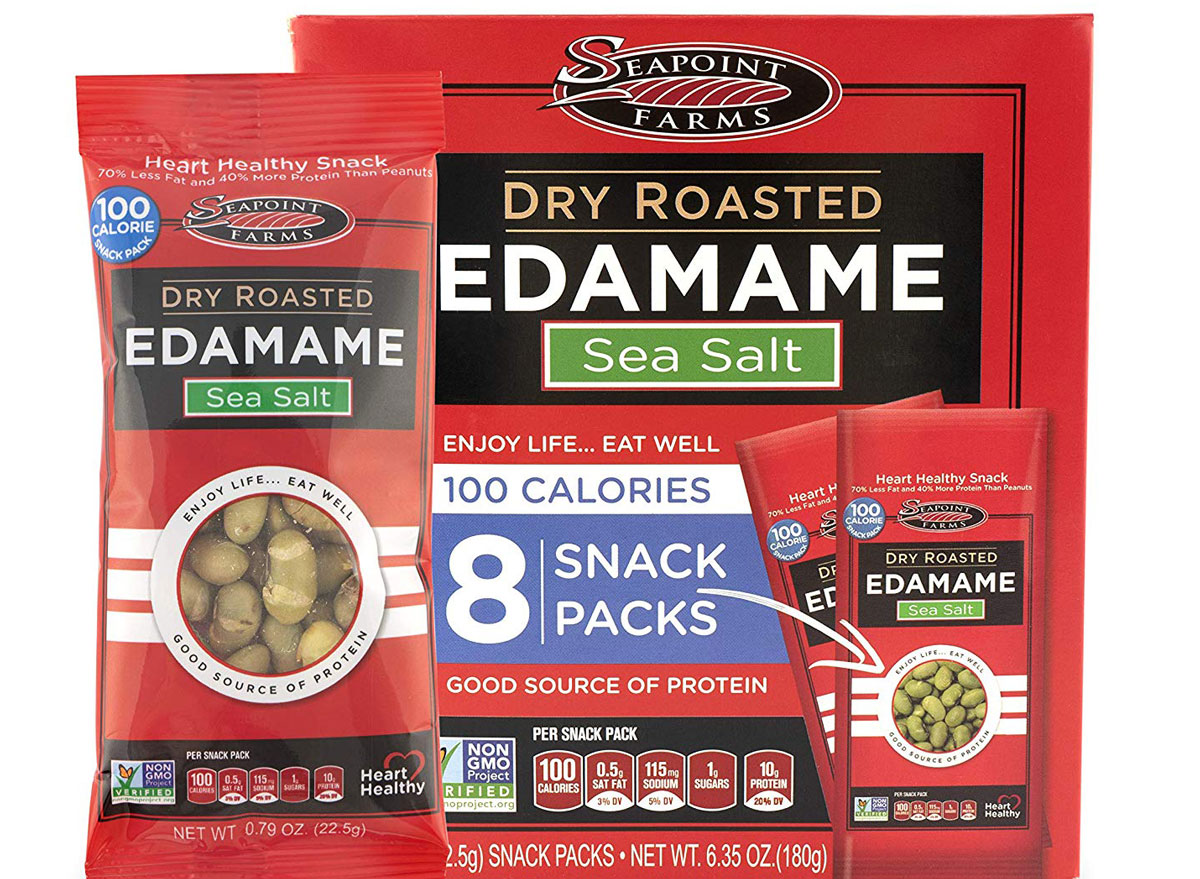 Seapoint Farms Dry Roasted Edamame, Sea Salt 100 Calorie Snack Pack - best high protein snacks