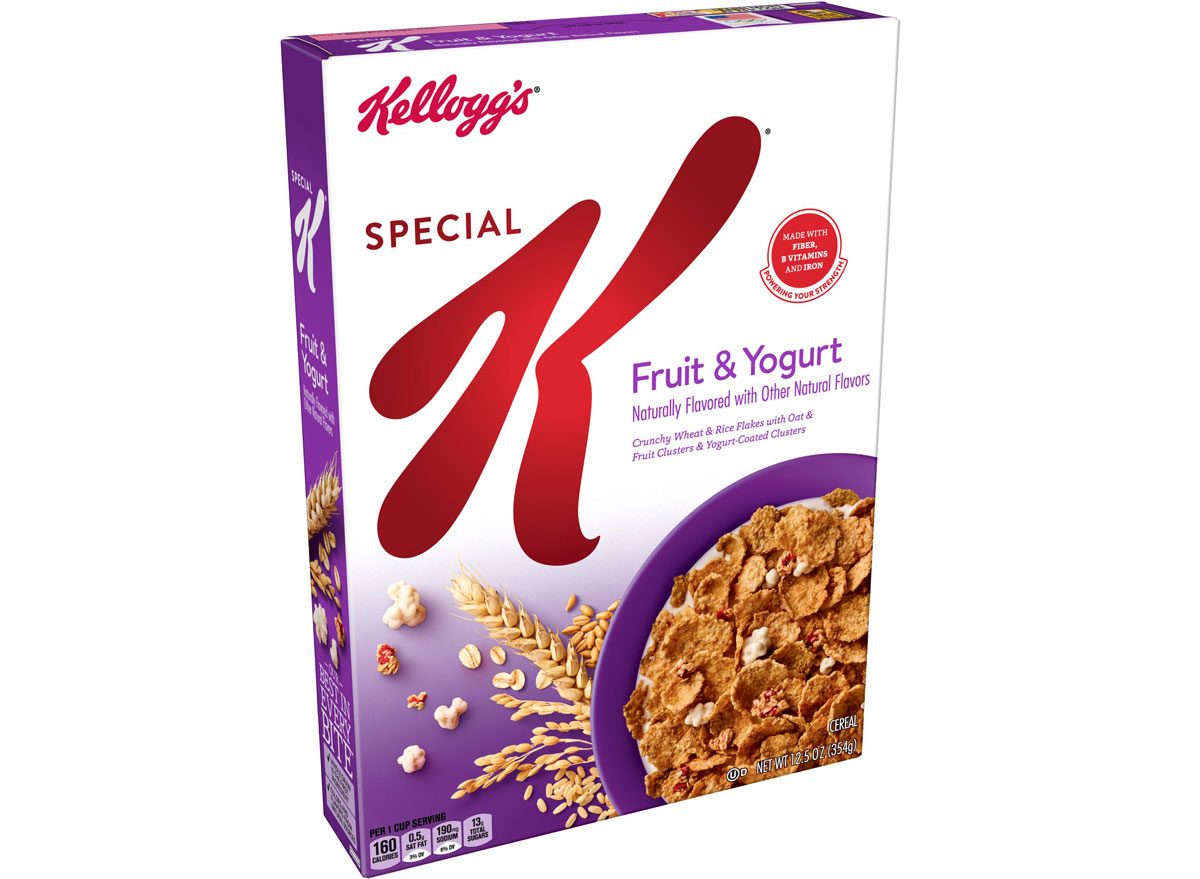 Kelloggs special k fruit and yogurt cereal - unhealthiest worst cereals