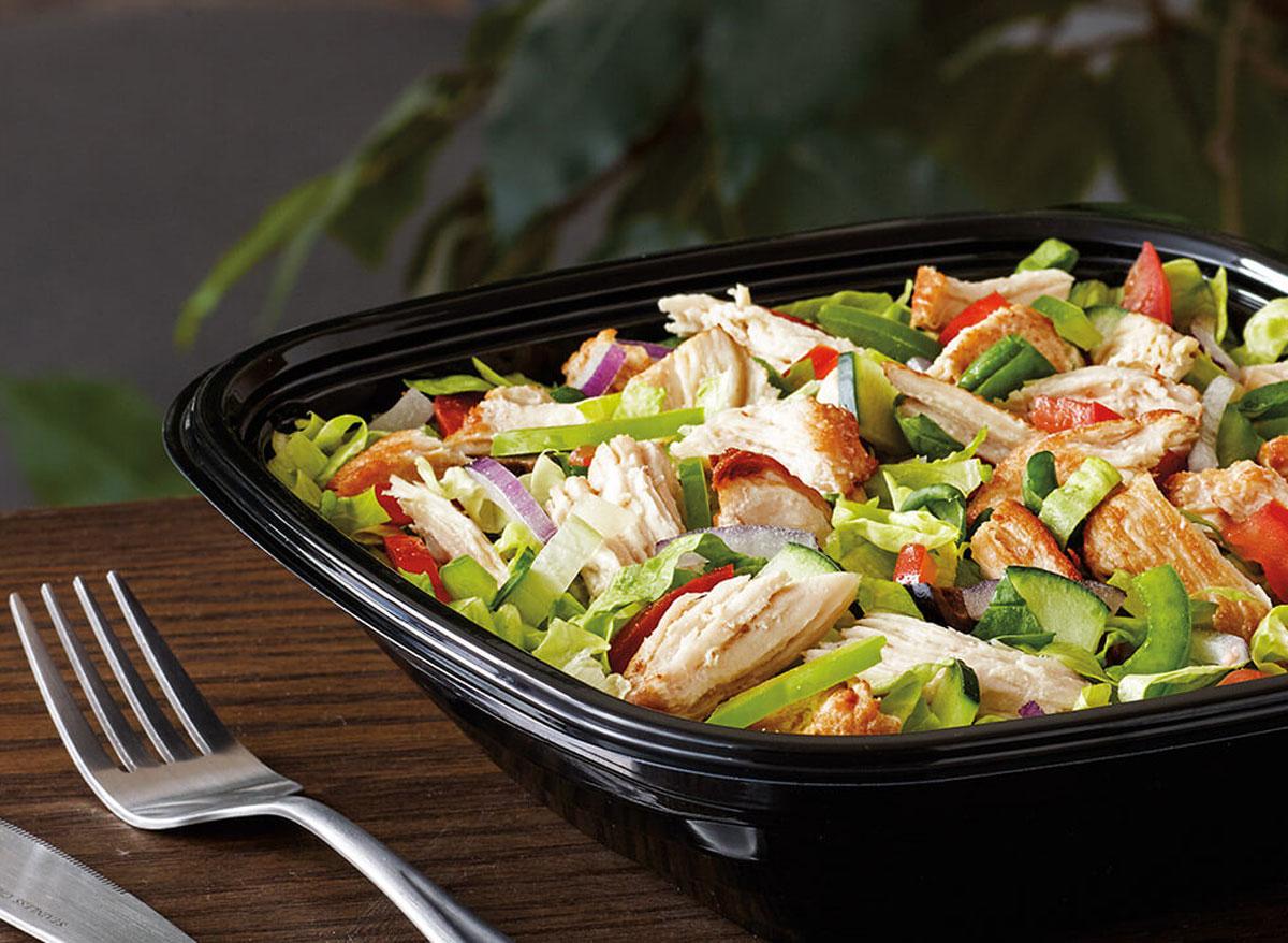 Subway rotisserie chicken salad