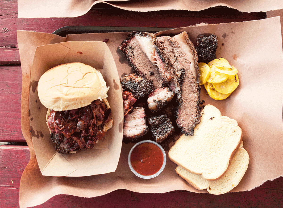 texas style bbq platter