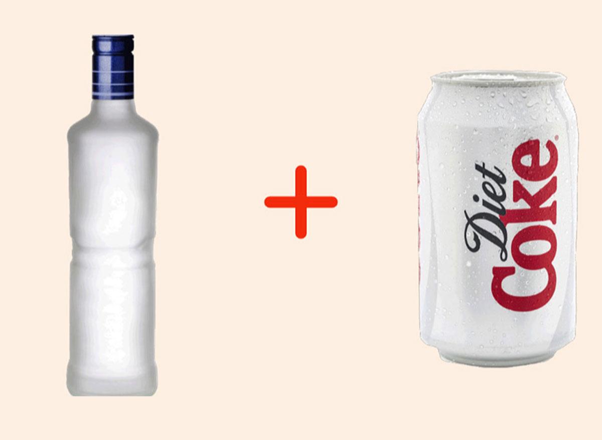 vodka with diet coke gross drink combo
