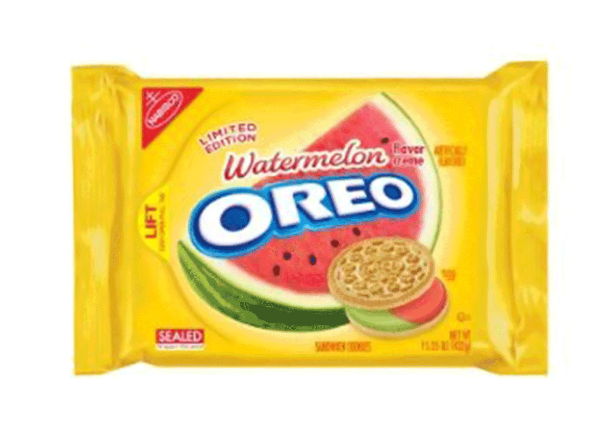 watermelon flavored creme oreo pack limited edition