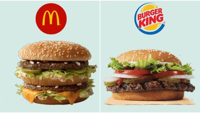 whopper burger vs big mac burger