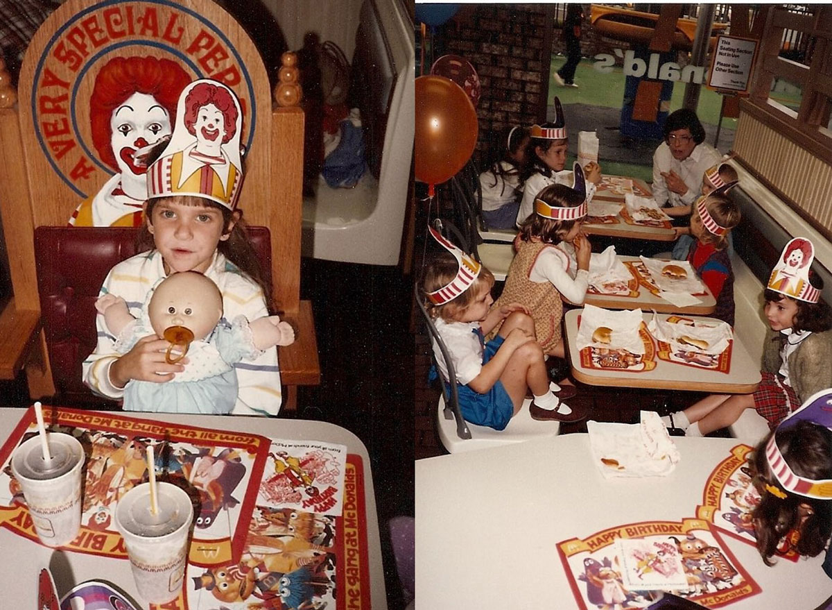 birthday party at mcdonalds playplace 1980s