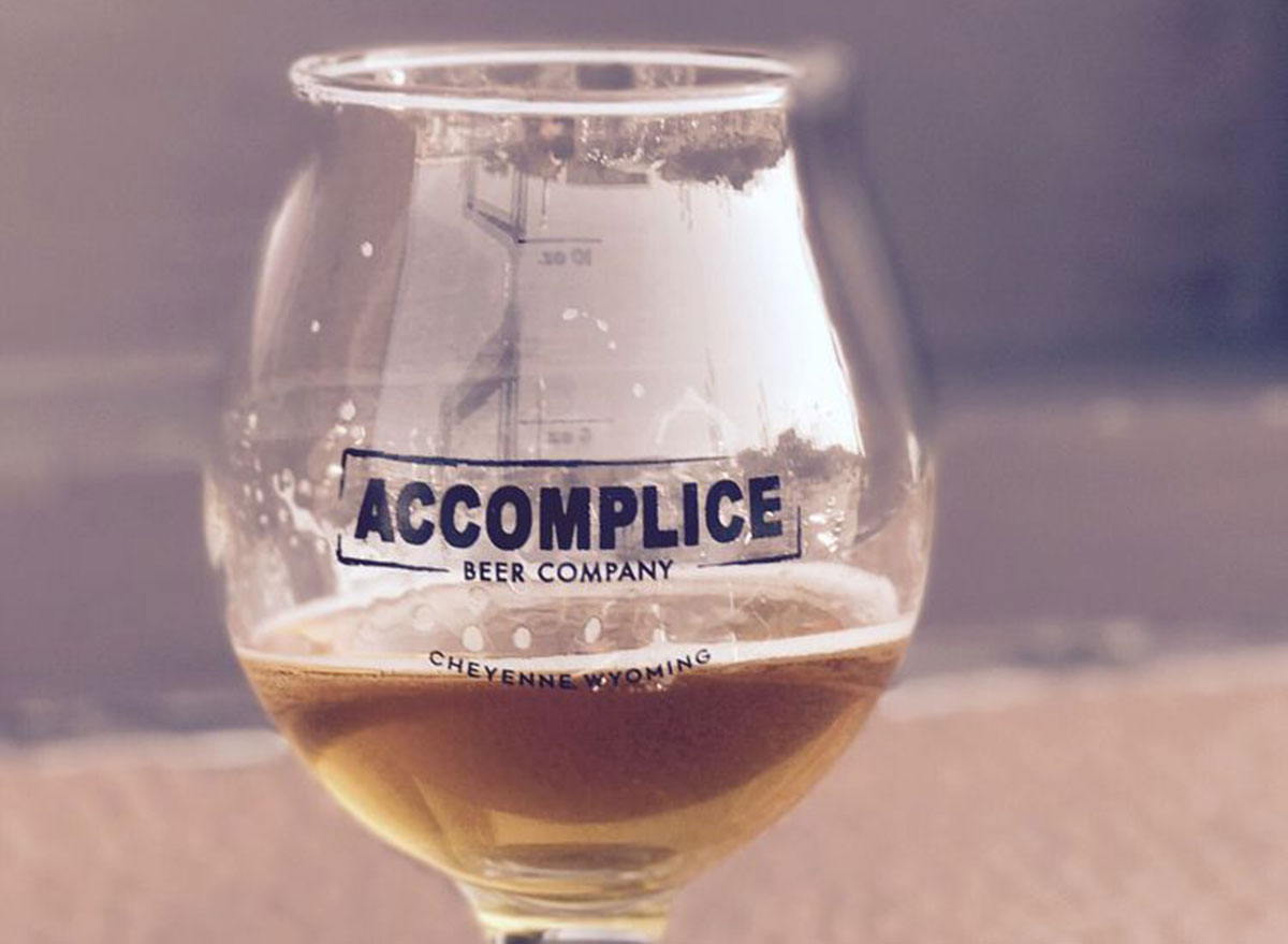 accomplice beer company glass most popular beer wyoming