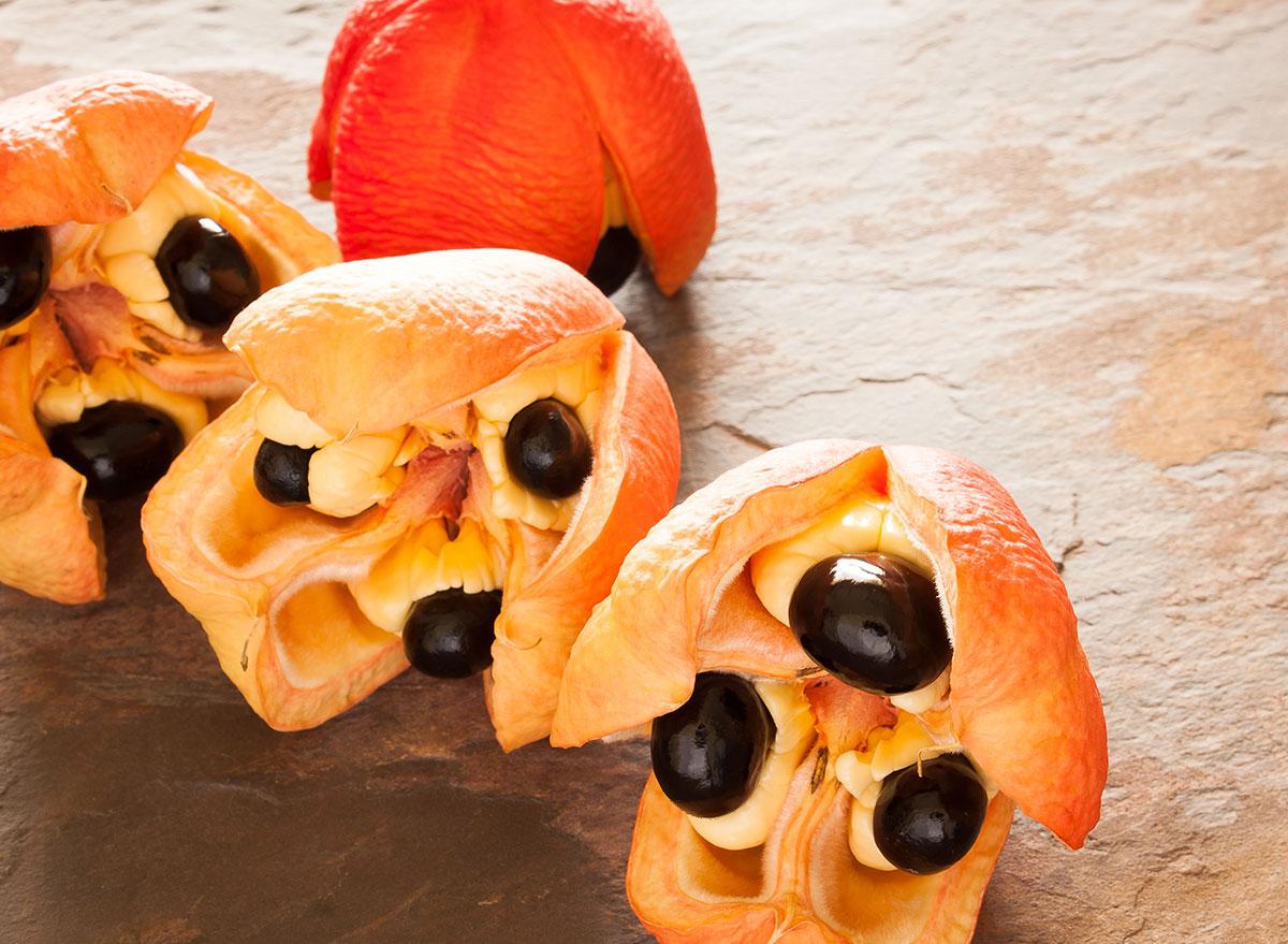 open ackee fruit