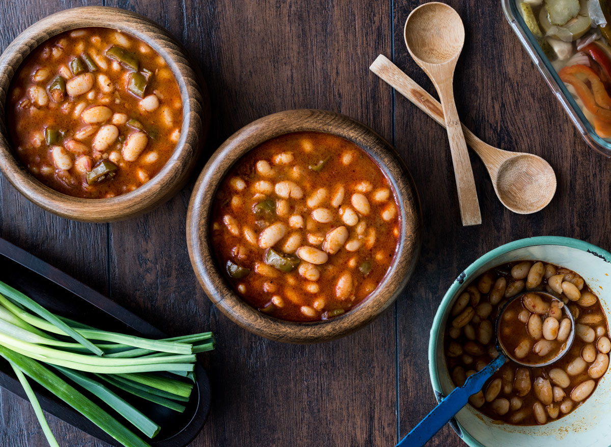 Baked navy white bean soup - calcium rich foods