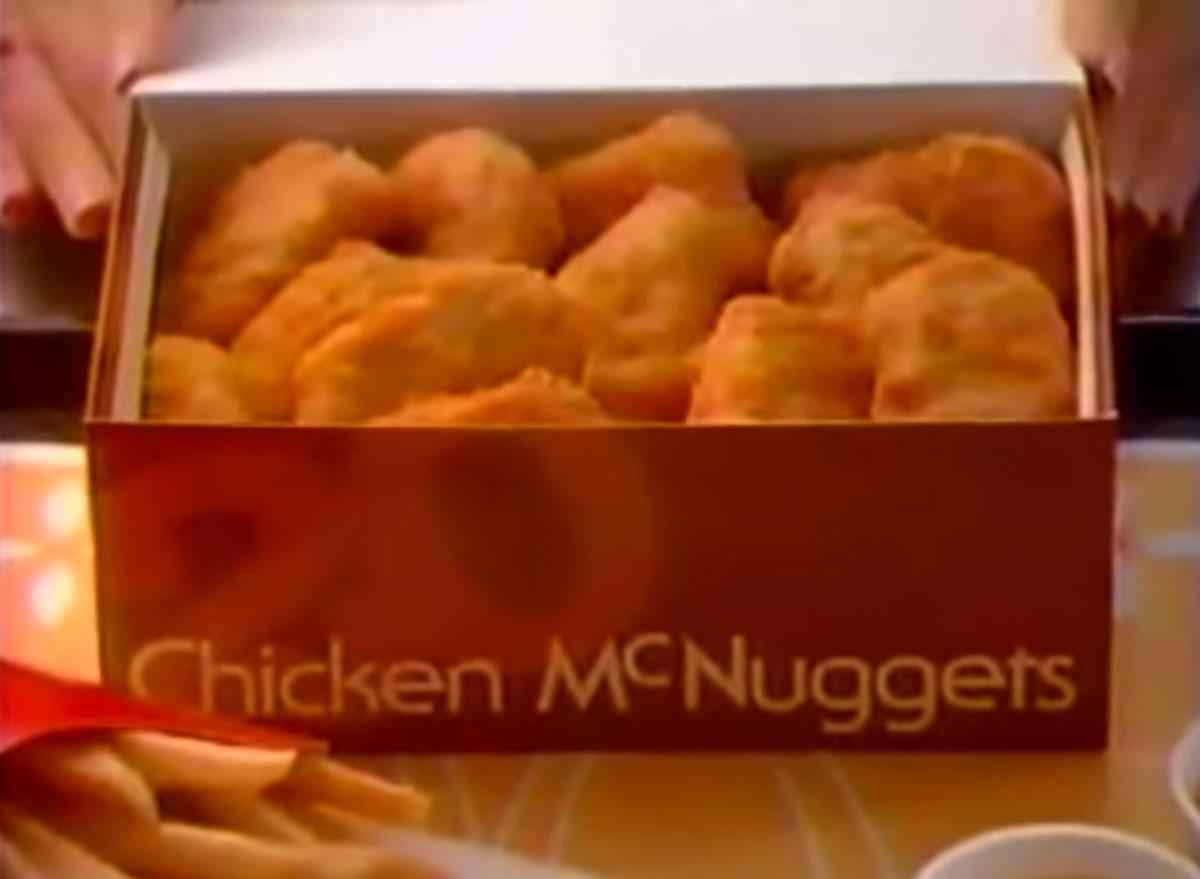 Chicken mcnuggets 1983