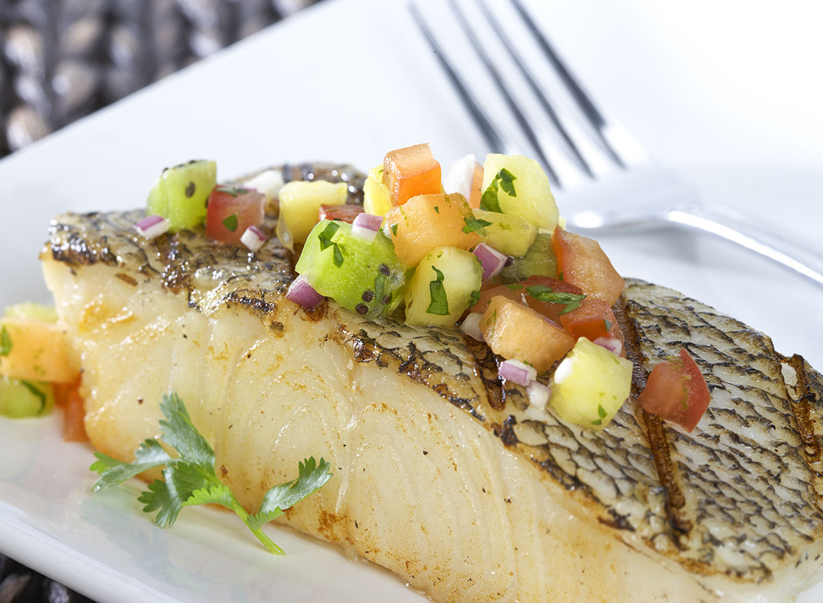cooked chilean sea bass dish