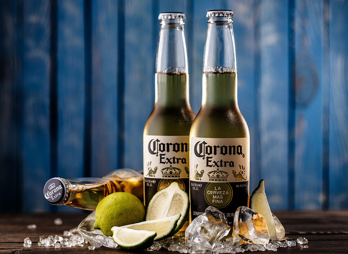 corona extra bottle with lime ice most popular beer new jersey