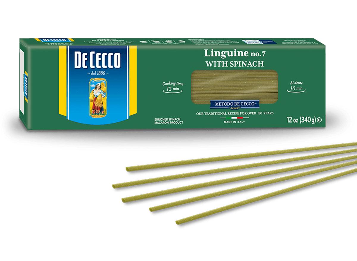 de cecco linguine with spinach