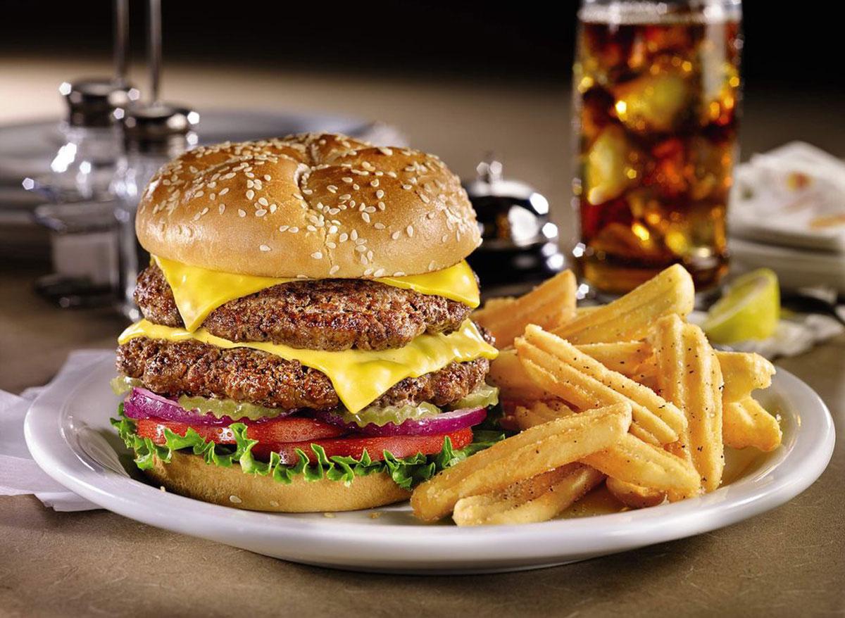 denny's double cheeseburger