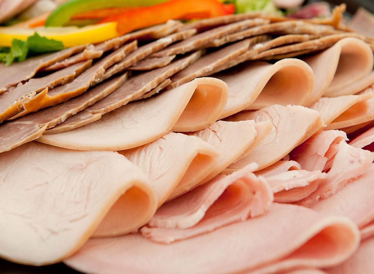 deli meats in pile