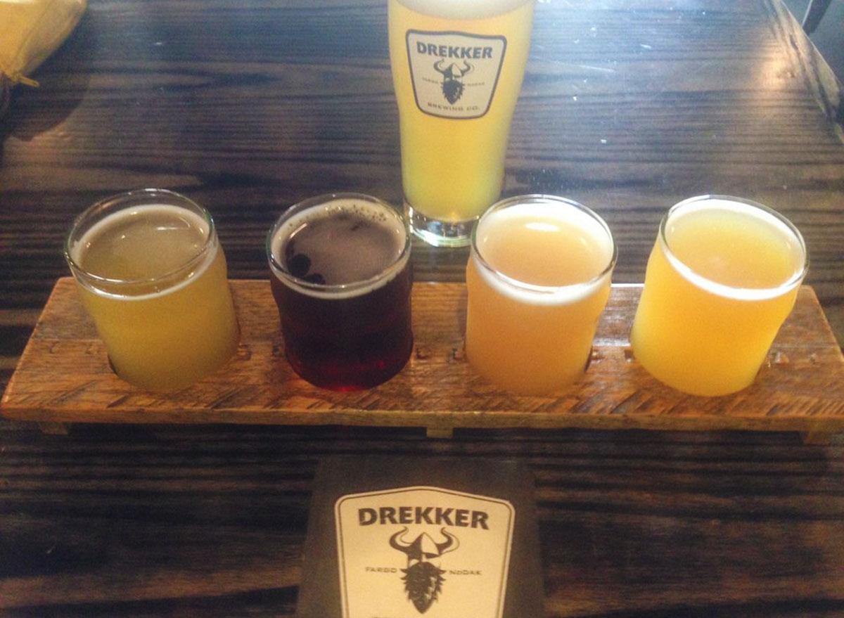 drekker beer flight most popular beer north dakota