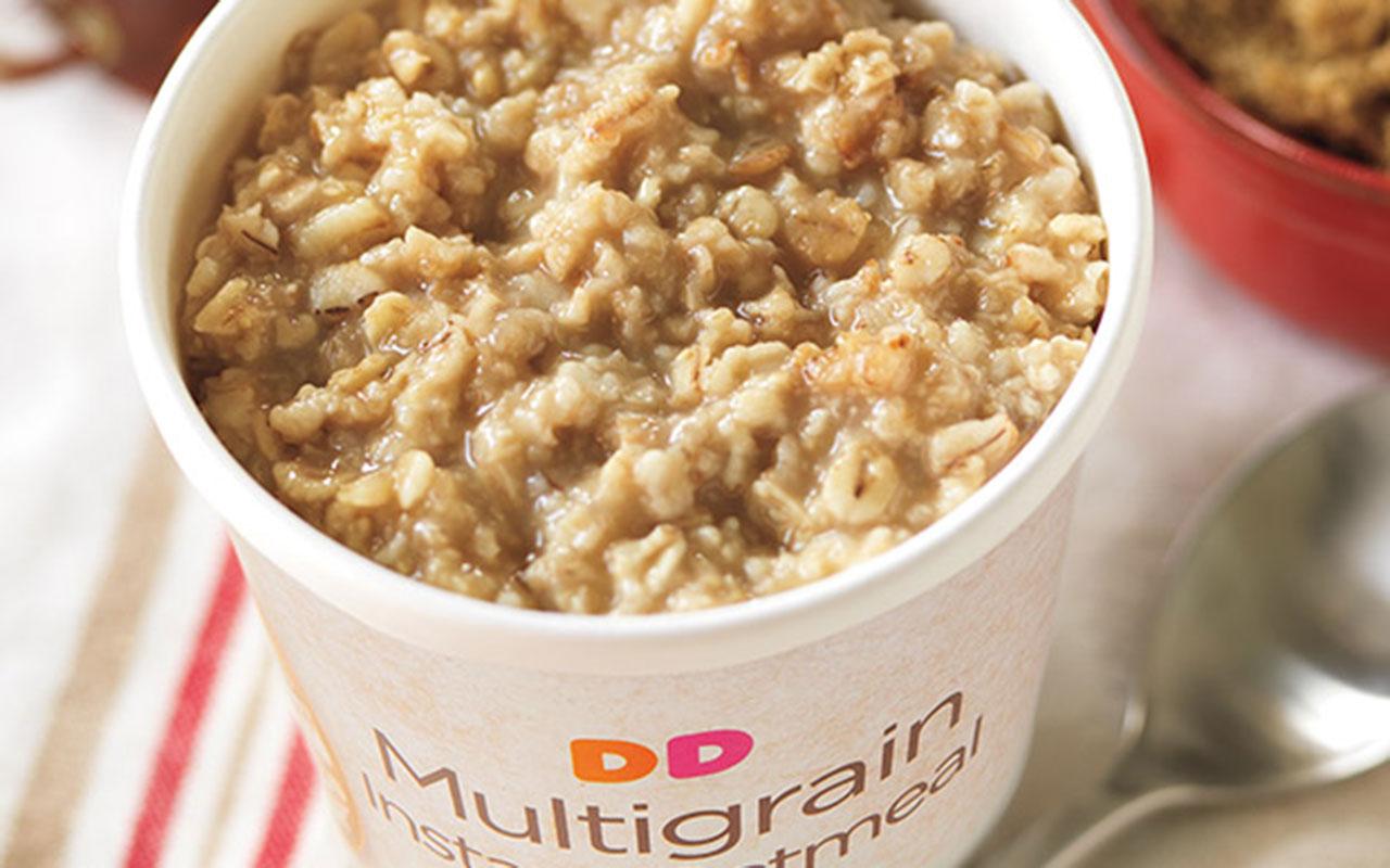 dunkin oatmeal cup