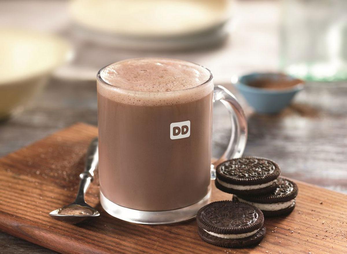 dunkin oreo hot chocolate