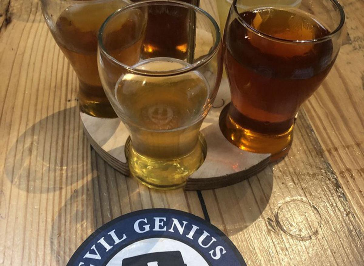 evil genius beer company sampler most popular beer pennsylvania