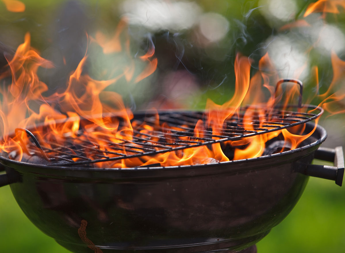 fire preheating grill