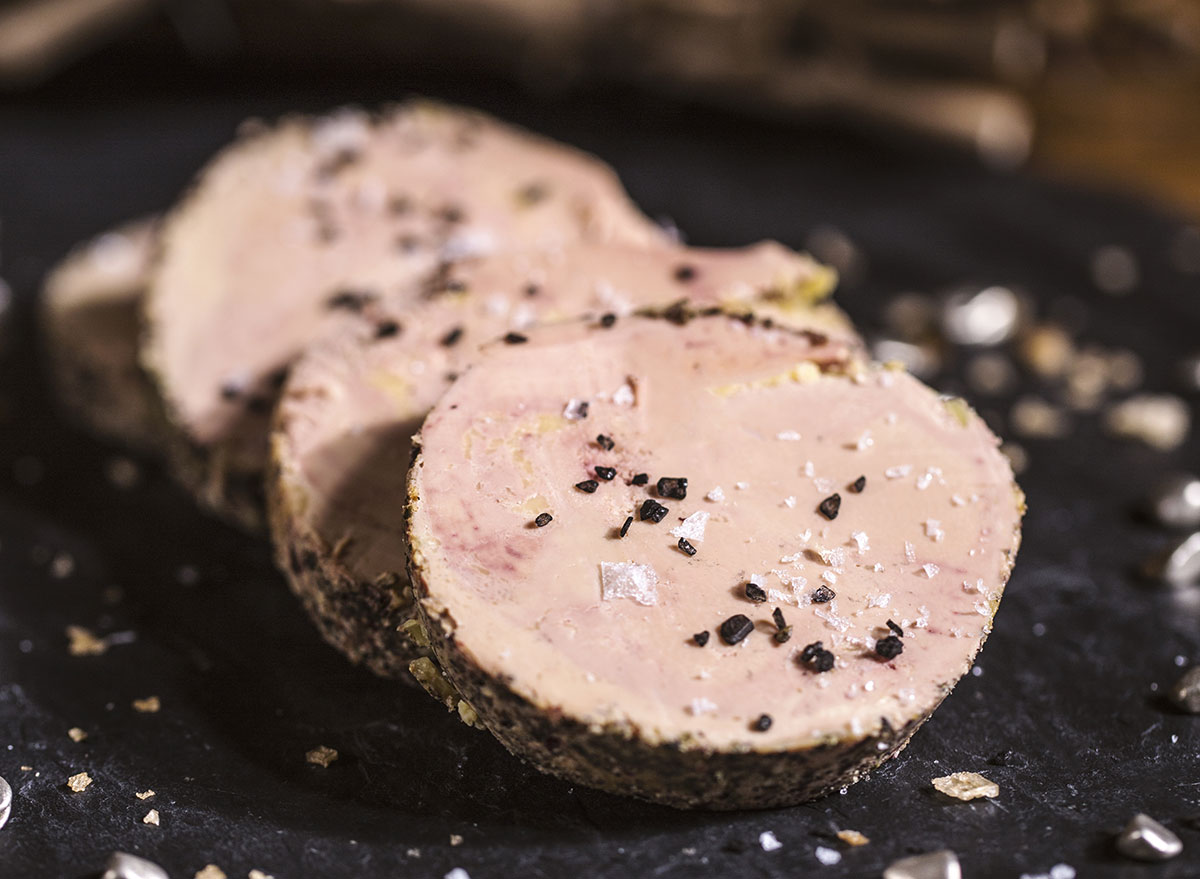 slices spiced foie gras