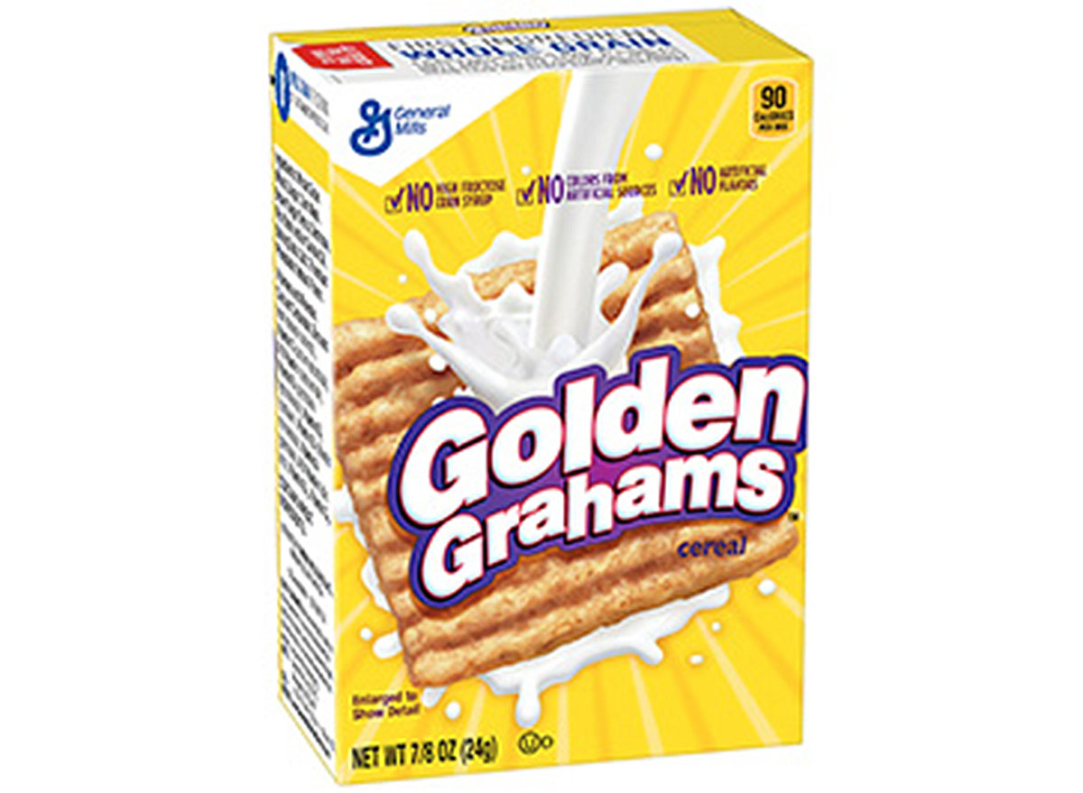 general mills golden grahams cereal box