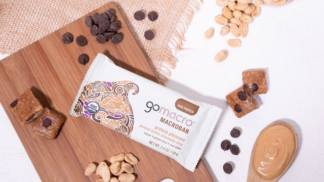gomacro macrobar protein pleasure peanut butter chocolate chip