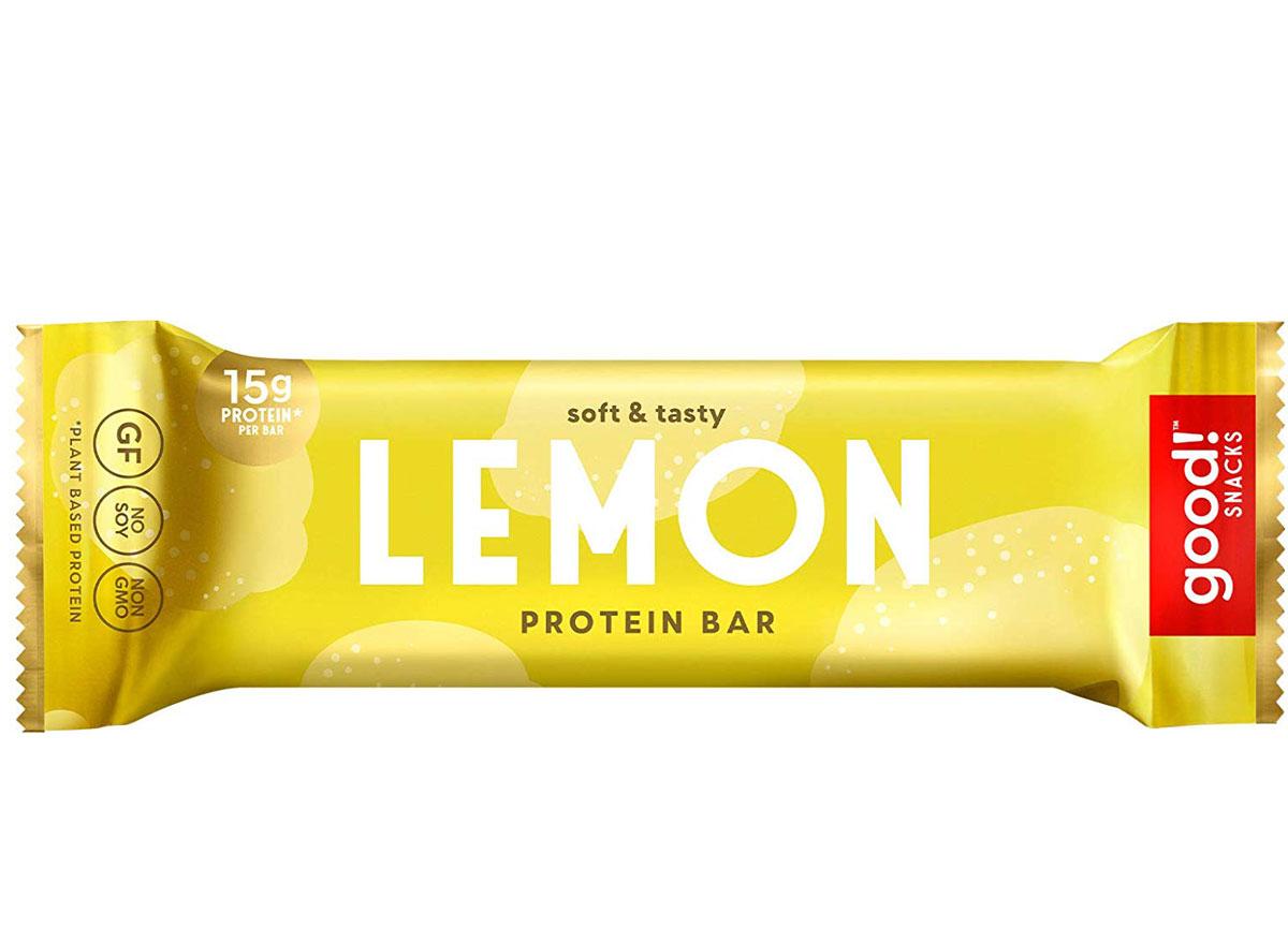 good snacks lemon plant based protein bar