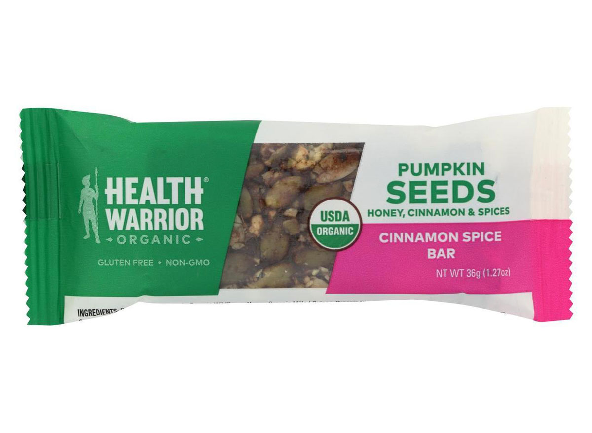 health warrior cinnamon spice plant based protein bar